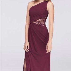 David's Bridal Wine bridesmaid dress size 4